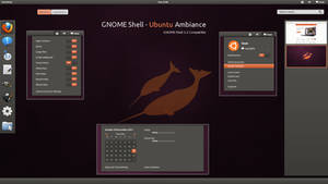 GNOME Shell - Ubuntu Ambiance by half-left