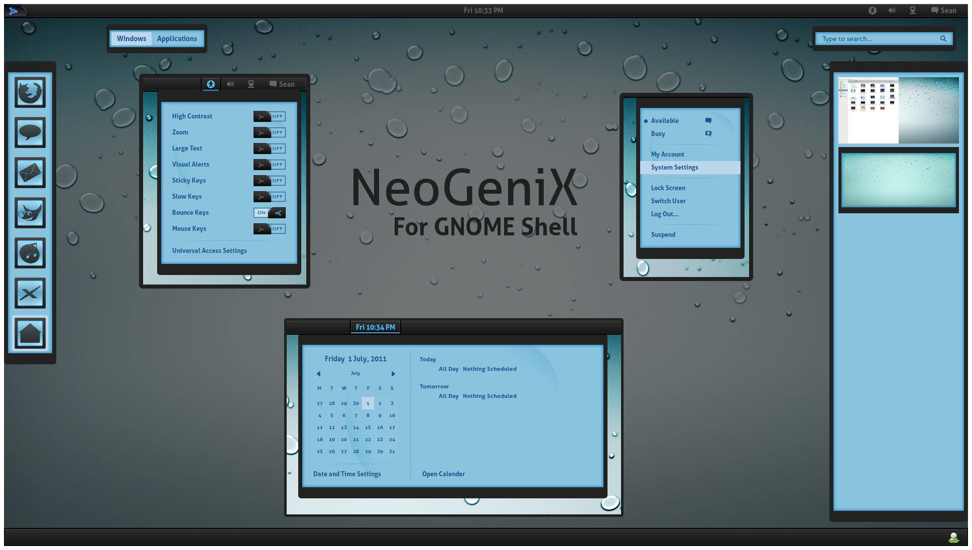 GNOME Shell - NeoGeniX by half-left