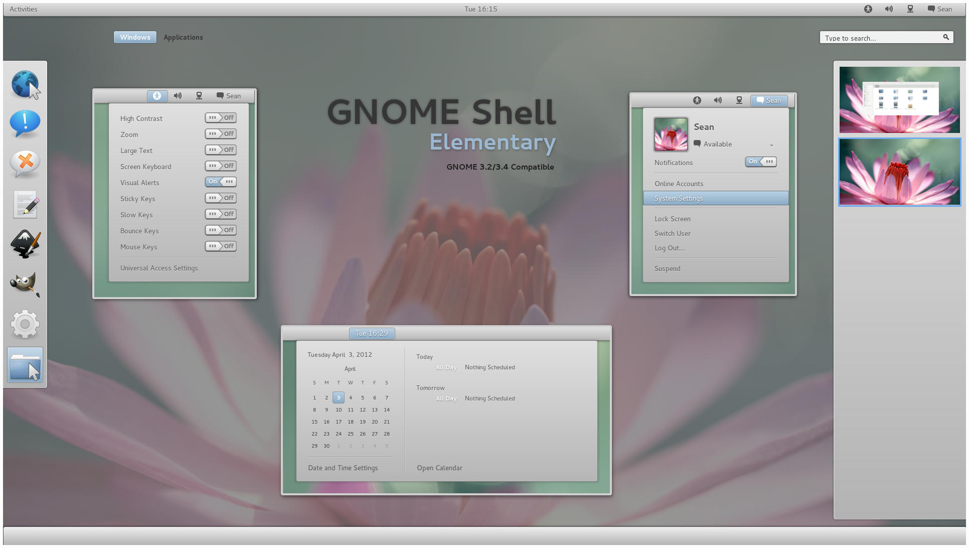 GNOME Shell - Elementary by half-left