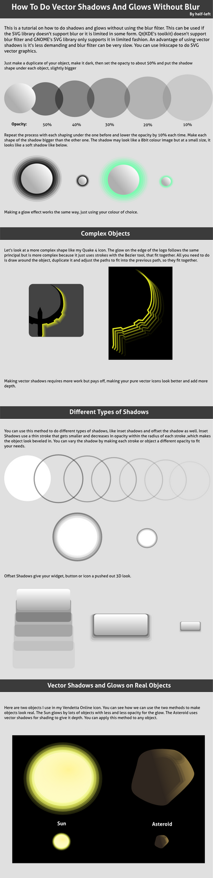 How To Do Pure Vector Shadows by half-left
