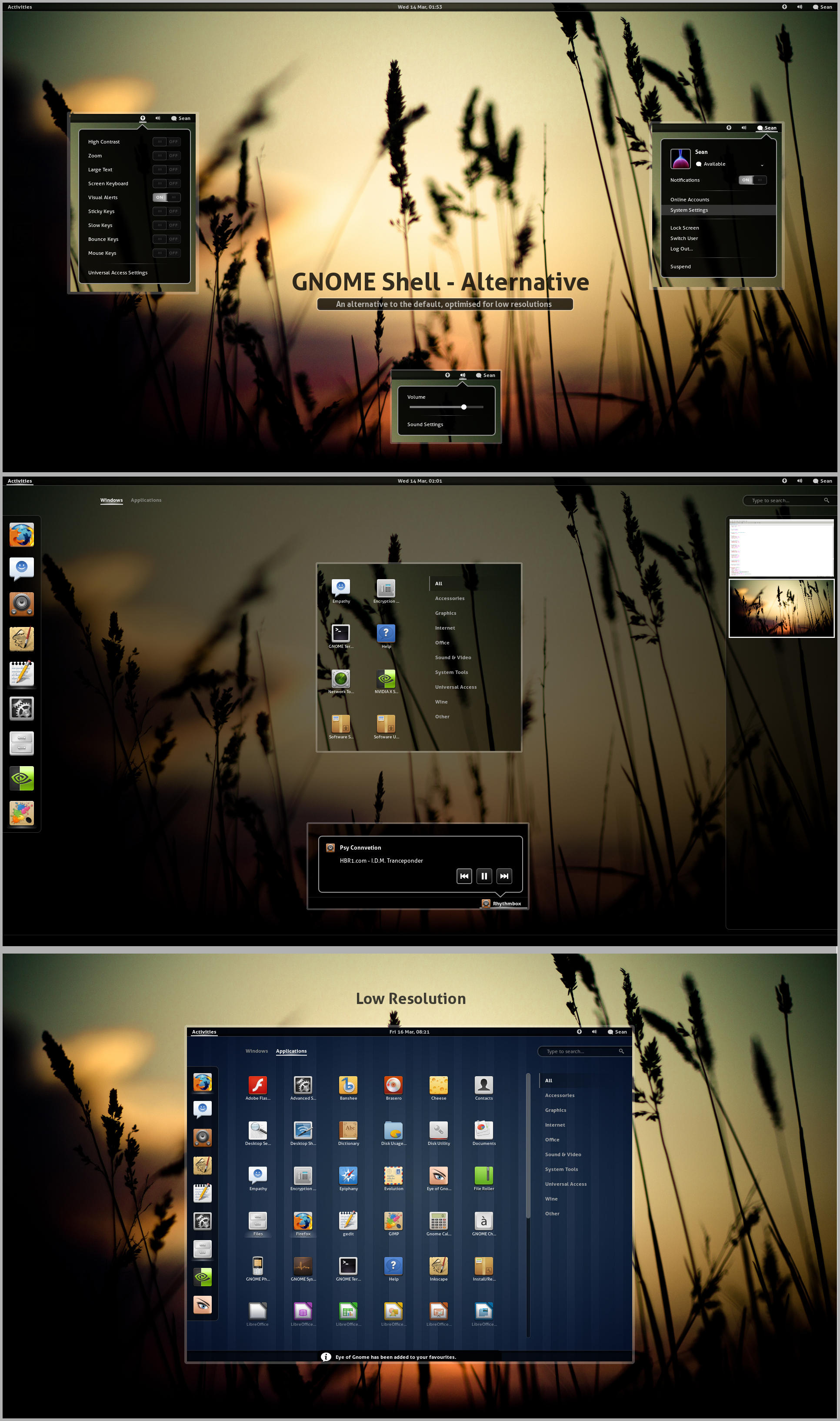 GNOME Shell - Alternative by half-left