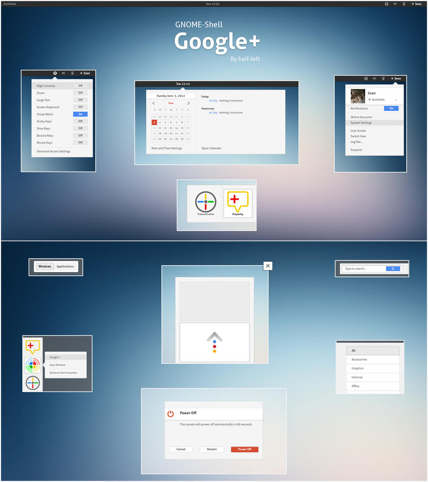 GNOME-Shell - Google+ by half-left