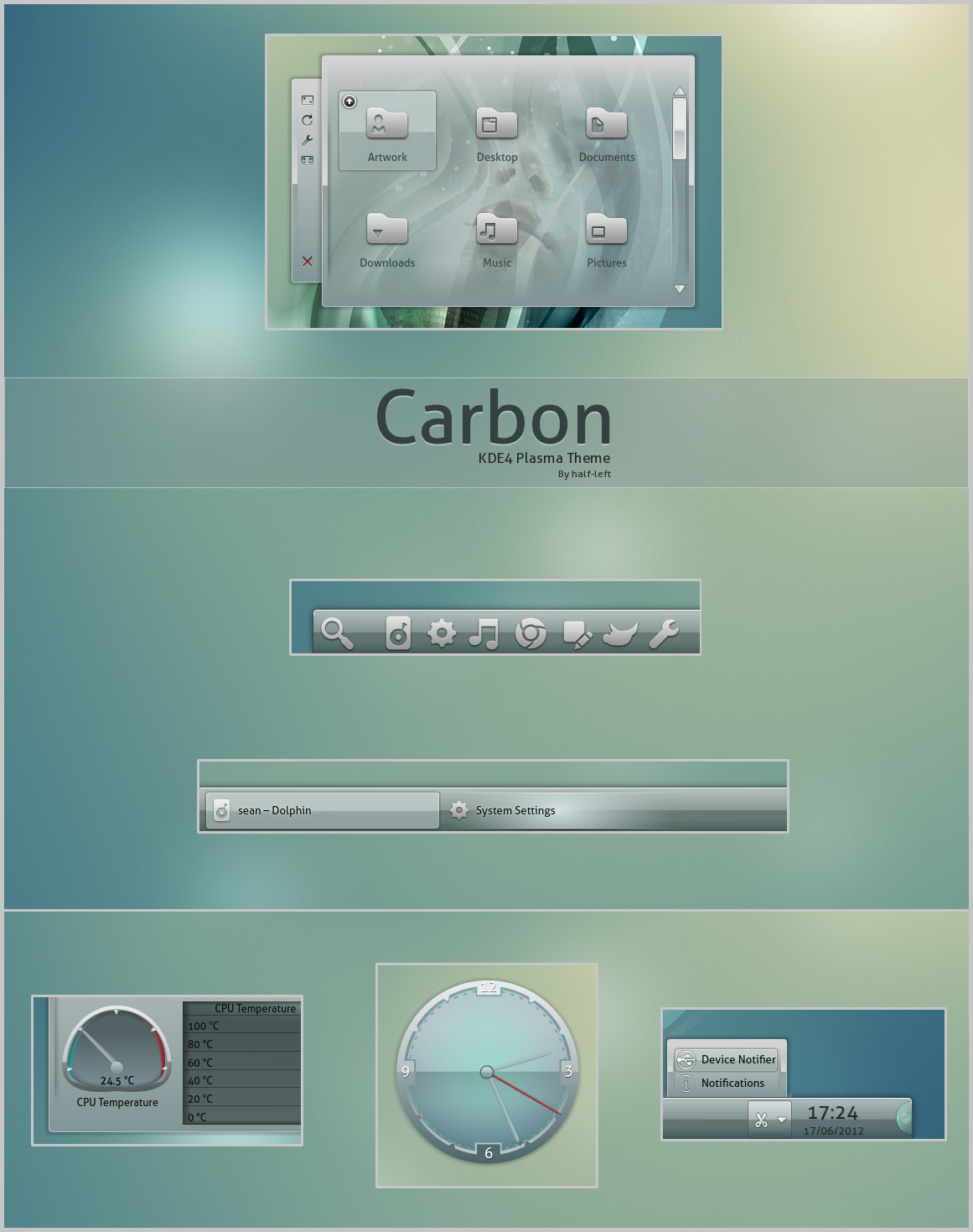 KDE4 - Carbon by half-left
