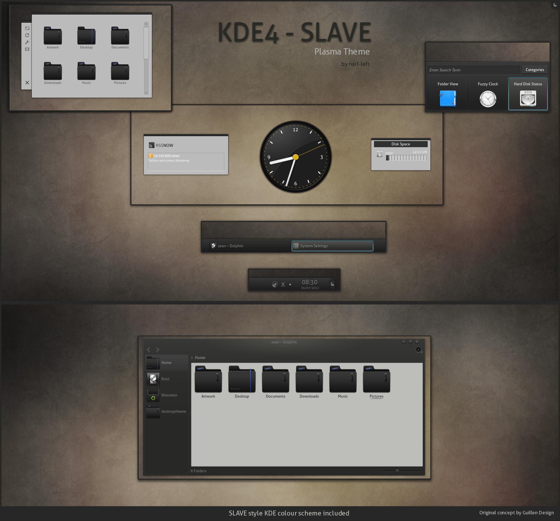 KDE4 - SLAVE by half-left