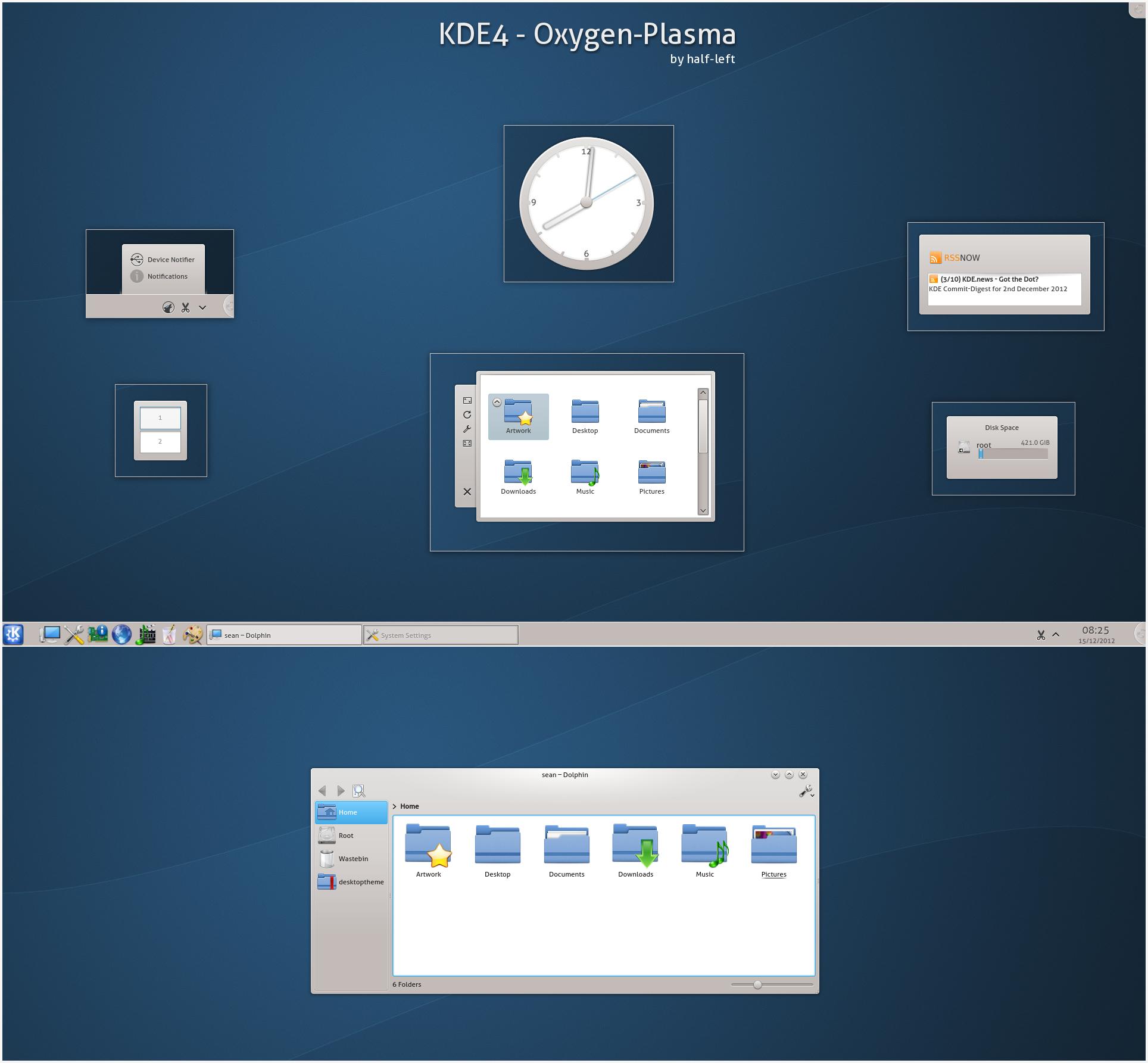 KDE4 - Oxygen-Plasma
