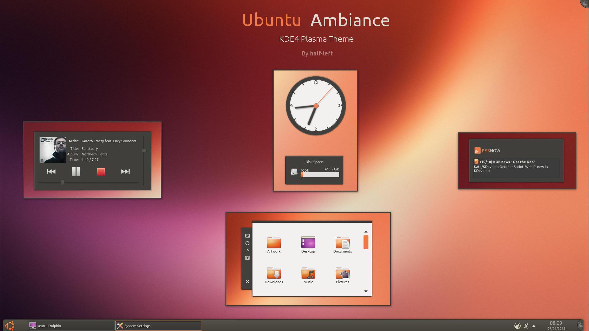 KDE4 - Ubuntu Ambiance by half-left