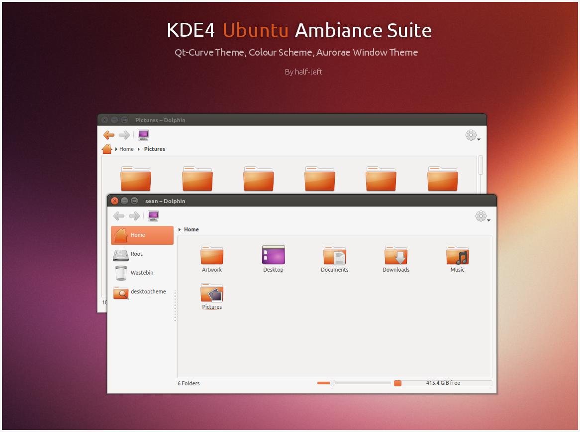 KDE4 Ubuntu Ambiance Suite