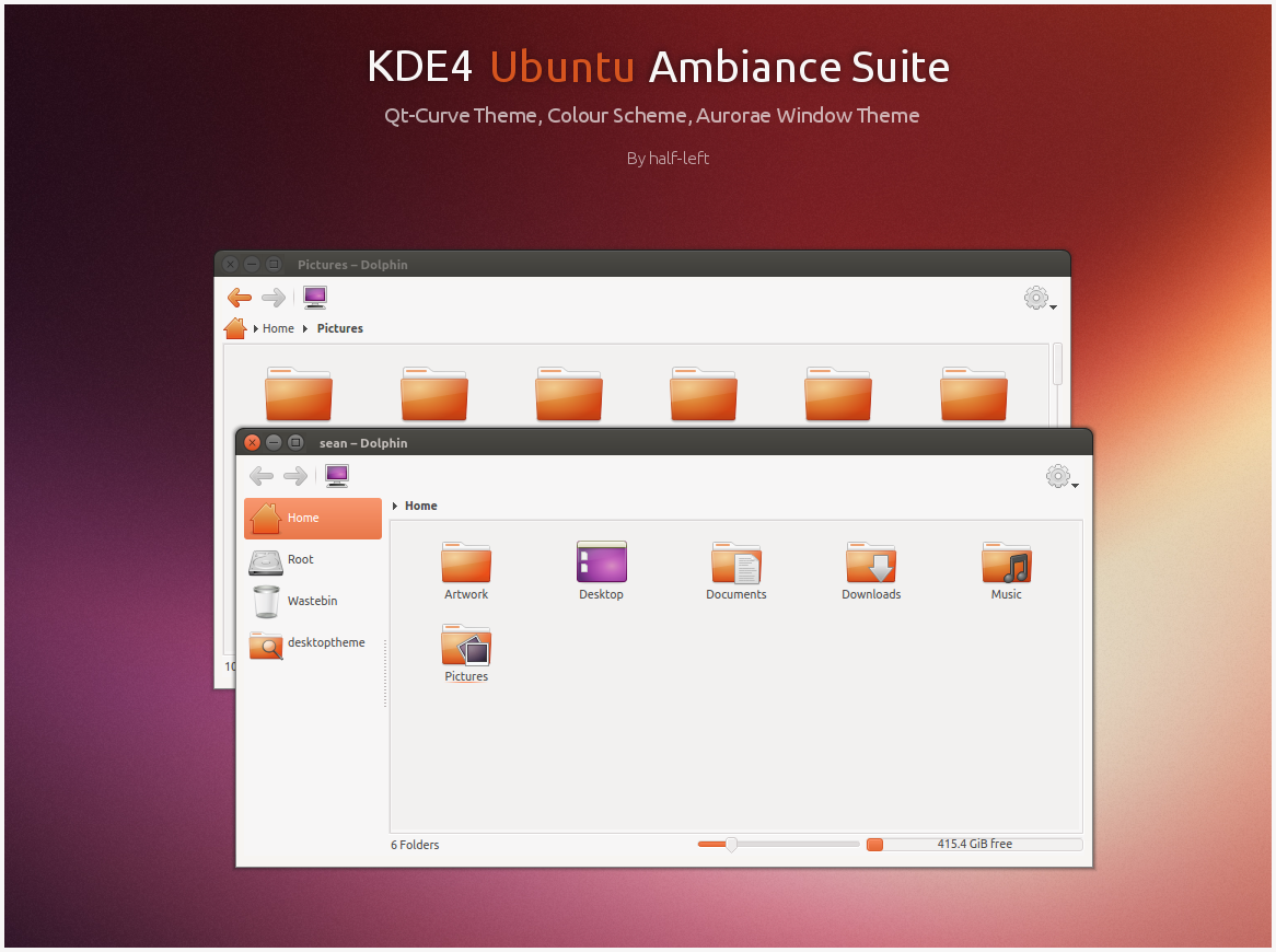 KDE4 Ubuntu Ambiance Suite by half-left