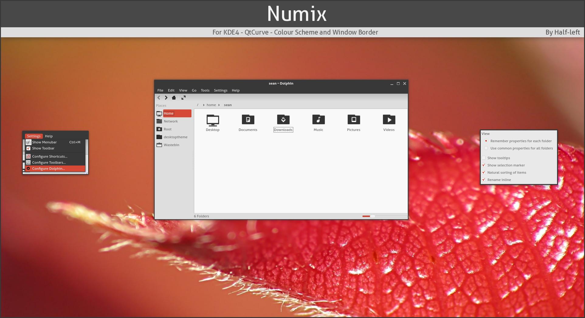 KDE4 - QtCurve - Numix by half-left