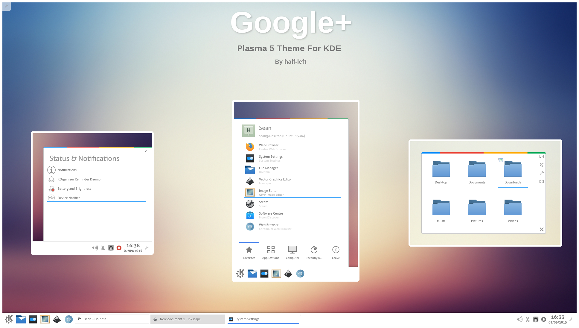 Google theme kde -  Google For Plasma 5 By Half Left