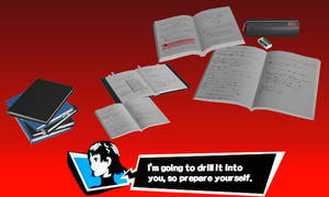 Persona 5: School notes pack (DL) by NecroCainALX
