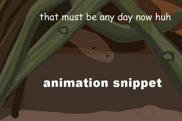 Snake scene animation snippet for game by littlegoblet