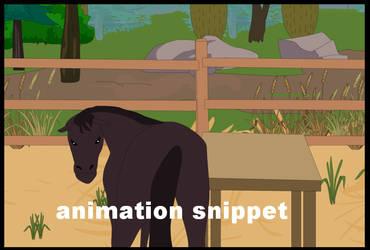 horse scene snippet by littlegoblet