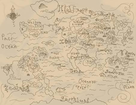 Pangaia Map of Durandal Saga