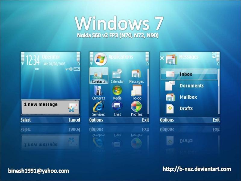 Windows 7 S60 by B NEZ - Windows 7 Temas� Nokia S60V2
