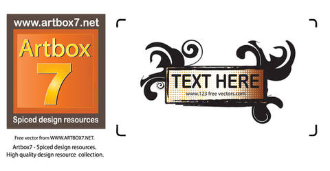 artbox7 Decorative text banner