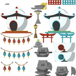 TeeWorlds Japanese temple