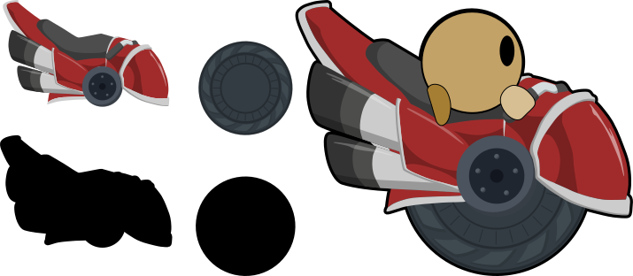 Teeworlds Red Motorcycle by android272