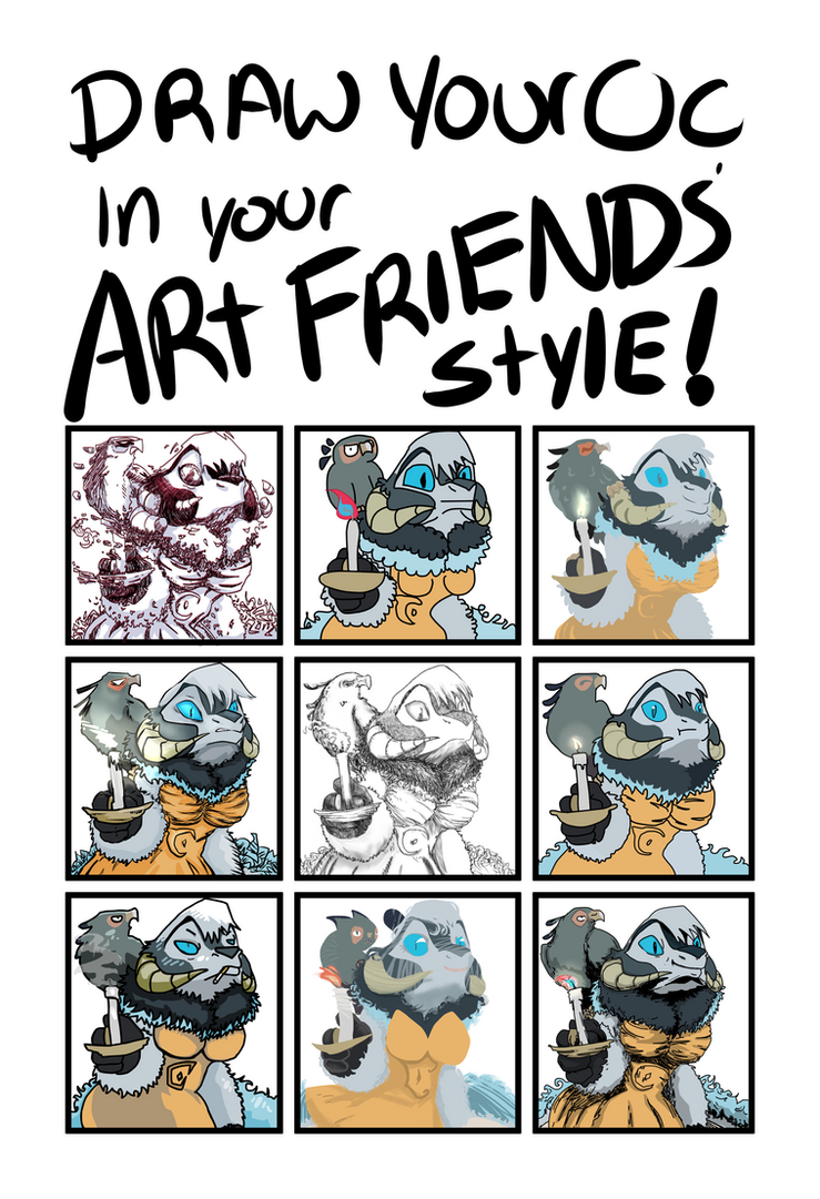 Draw Your Oc In Your Art Friends Style Meme By Athaziwald On