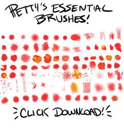 Petty Brushes- Essentials by pettyartist