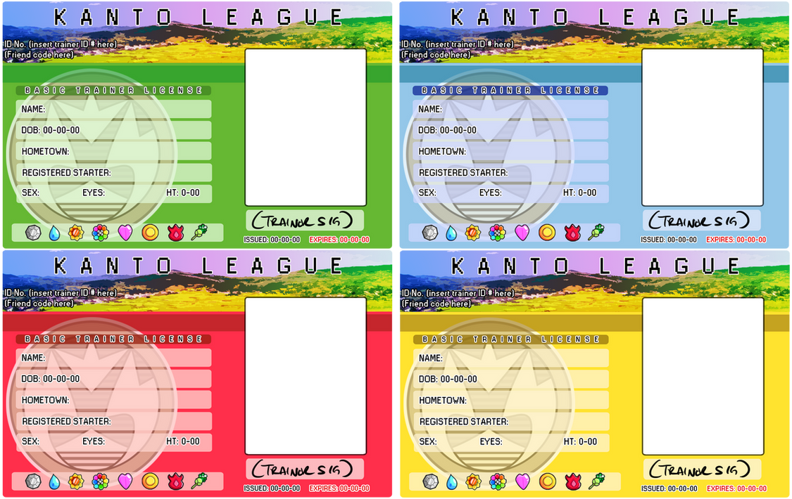 KANTO league licenses by pettyartist