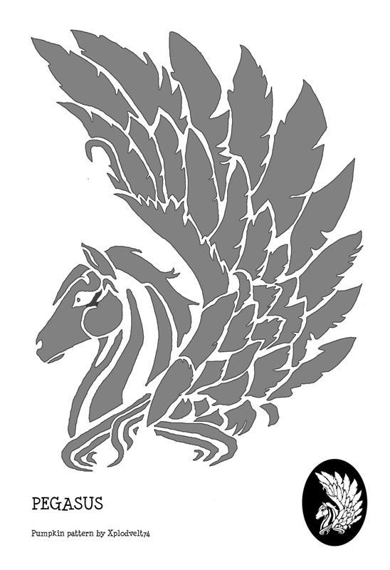 Pegasus pumpkin pattern by xplodvelt on deviantart