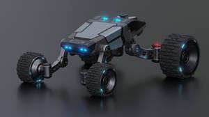 Futuristic Rover/Truck Front