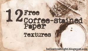 12 Coffee-Stained Paper Textures