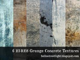 6 Free Hi-res Grunge Concrete Textures by tau-kast