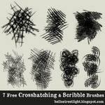Free Brush Set 08: Crosshatching and Scribbles
