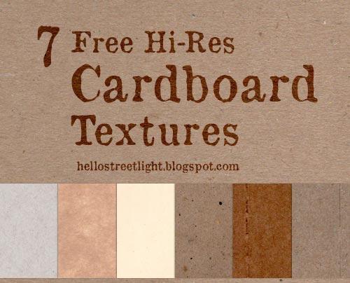 7 Hi-Res Cardboard Textures by tau-kast