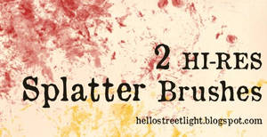 Free Brush Set 14: Splatter
