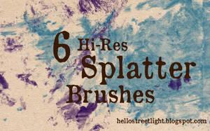 Free Brush Set 17: Splatter by tau-kast