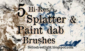 Free Brush Set 20: Splatter and Paint dabs