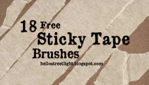 Free Brush Set 21: Sticky Tape by tau-kast