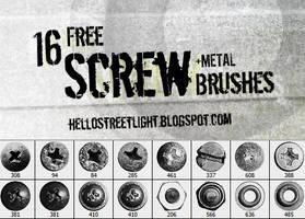 Free Brush Set 23: Screw heads by tau-kast