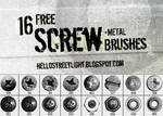 Free Brush Set 23: Screw heads