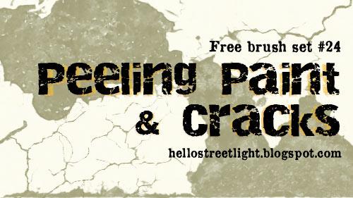 Free Brush Set 24: Peeling paint and cracks by tau-kast