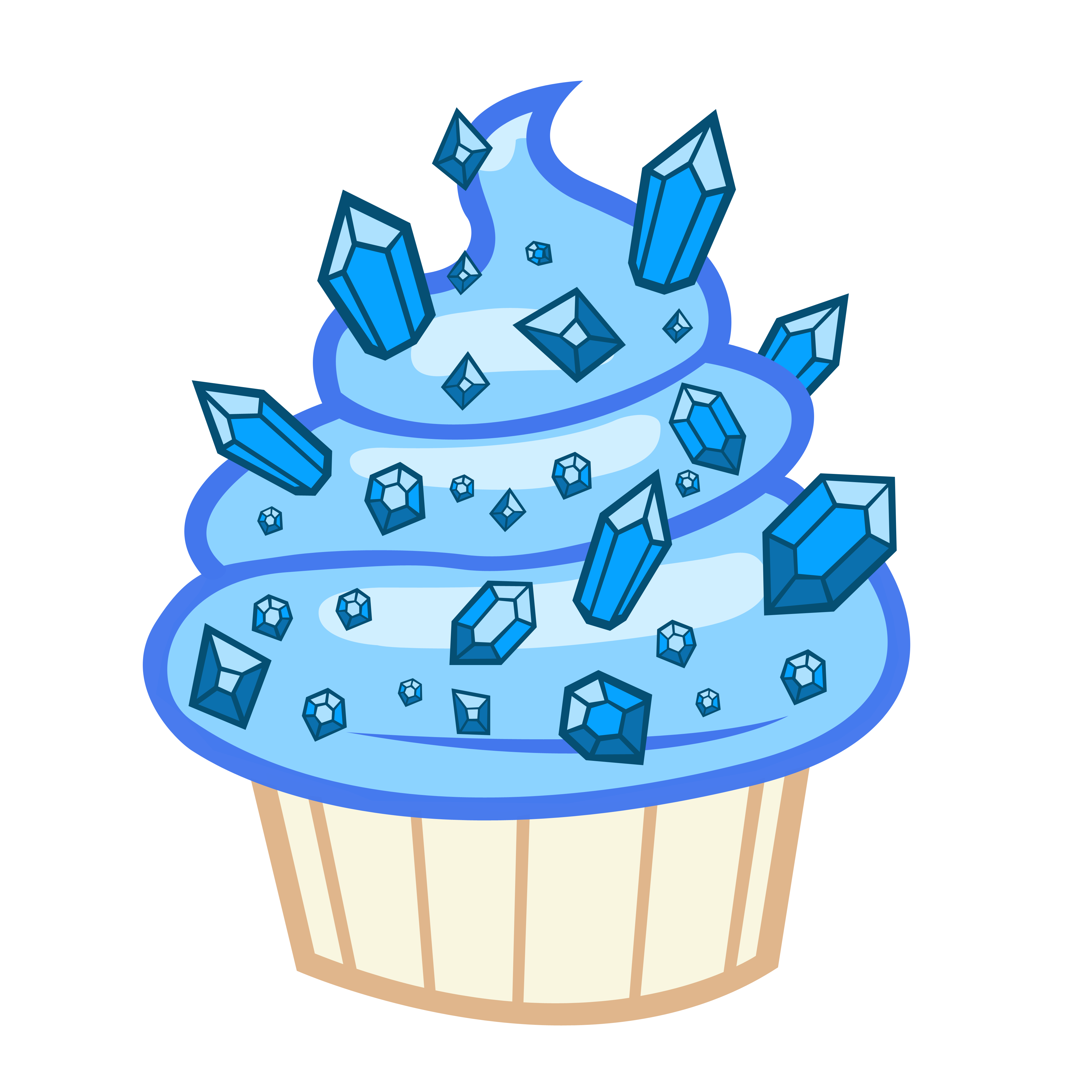 Cupcake Vector Art : Sapphire Cupcake vector by Vixolof96 on DeviantArt