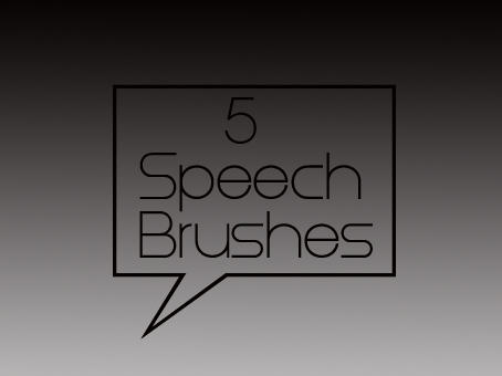 5 Speech Brushes by dead-liam