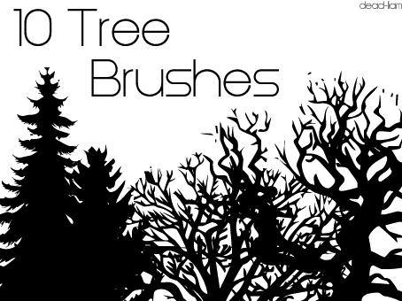 Tree Brushes by dead-liam