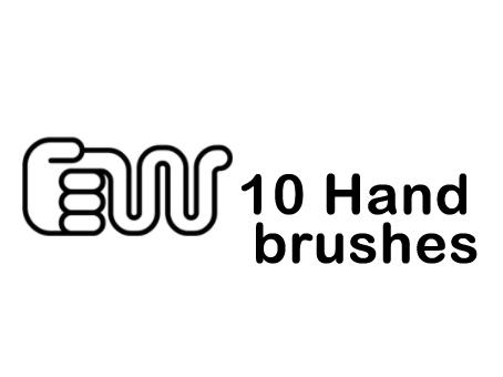 10 Hand Brushes by dead-liam