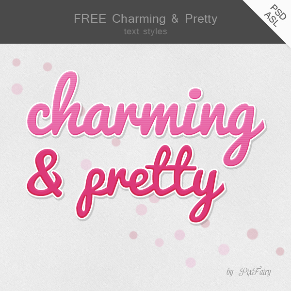 FREE Charming Text Styles by PixFairy
