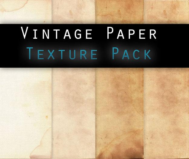 Vintage paper TEXTURE PACK by Knald