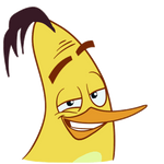 Angry Birds Stickers: Chuck Hey there!