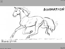 Standardbred Pacing Animation - Sketch
