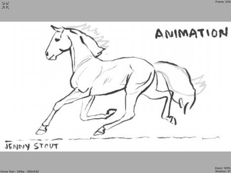 Standardbred Pacing Animation - Sketch