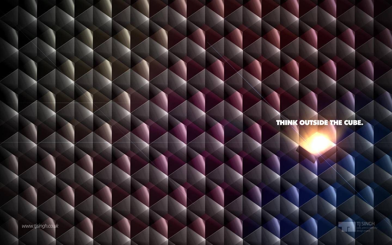 HD Wall: Think Outside Cube by tj-singh