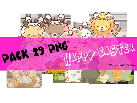 Pack 29 PNGs Easter by MayruuGomez