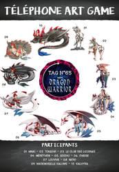 Telephone Art Game - 65 - Dragon Warrior by Telephone-Art-Game